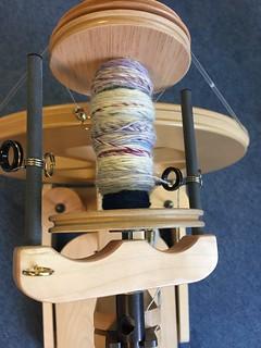 Spinspul Almere wol spinnen Ashford spinnenwiel kaardemolen De Blauwe Reiger rolletjes van merino