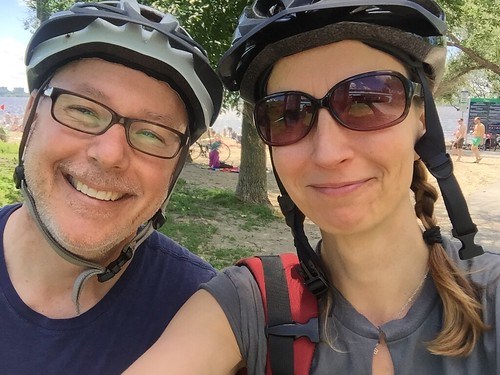 Mark and me, on a bike ride to Stittsville. Almost home!