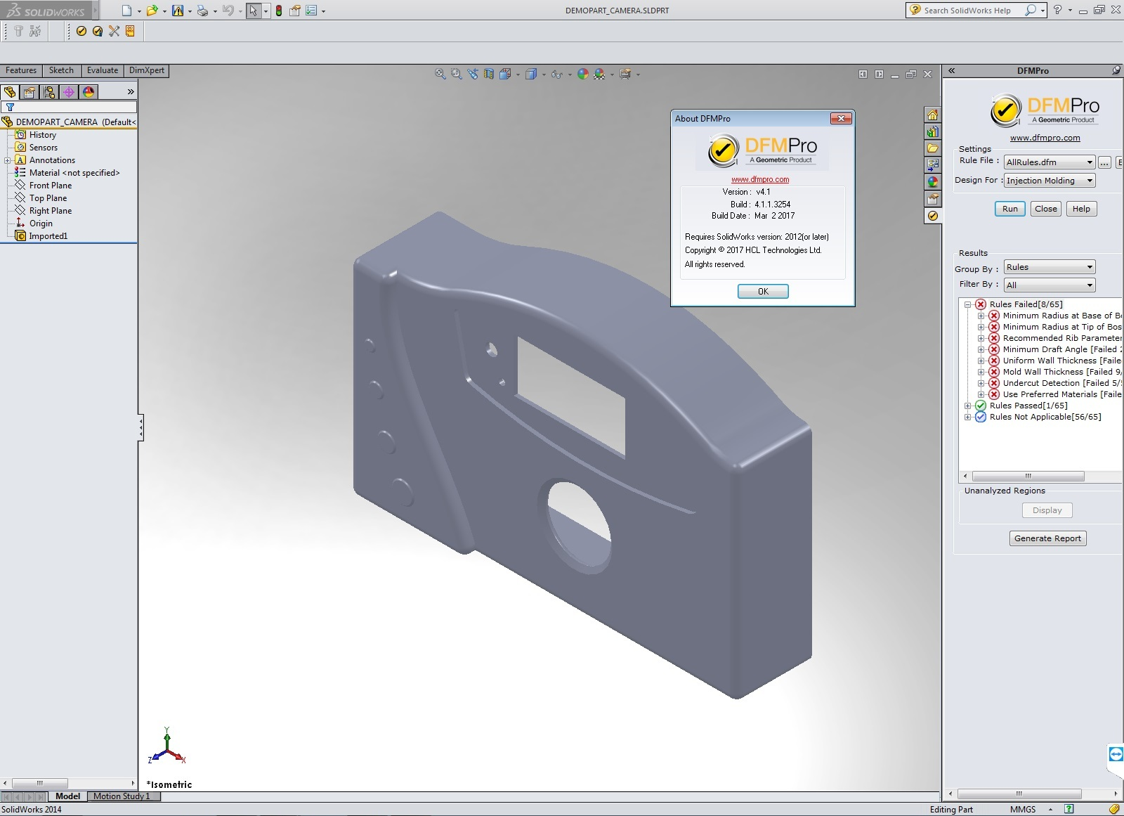 design with Geometric DFMPro v4.1.1.3254 for SolidWorks 2012-2016 x86 x64 full