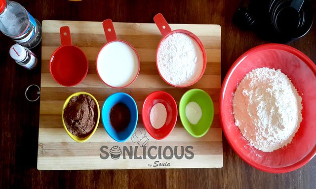 Ingredients for Eggless Chocolate Muffins