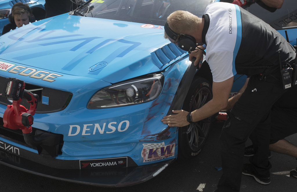 62 BJORK Thed (swe) Volvo S60 Polestar team Polestar Cyan Racing action during the 2017 FIA WTCC World Touring Car Championship race of Portugal, Vila Real from june 23 to 25 - Photo Gregory Lenormand / DPPI