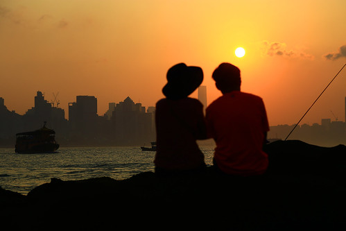 two lover color city people water sea orange sun sunset boat shadow cloud sky beach seashore 2017 hongkong summer canonef24105mmf4lisusm canoneos6d eos6d canon 24105mm favorites60 aatvl01 favorites100