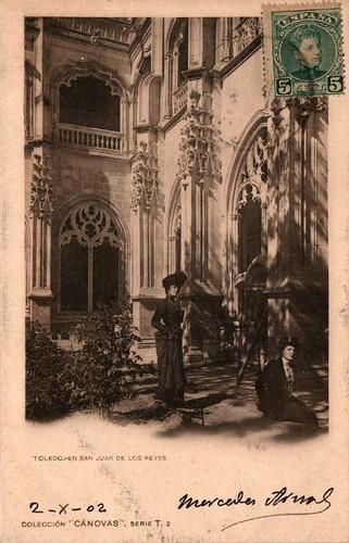 Claustro de San Juan de los Reyes hacia 1900. Fotografía de Antonio Cánovas del Castillo, Dalton Kaulak.