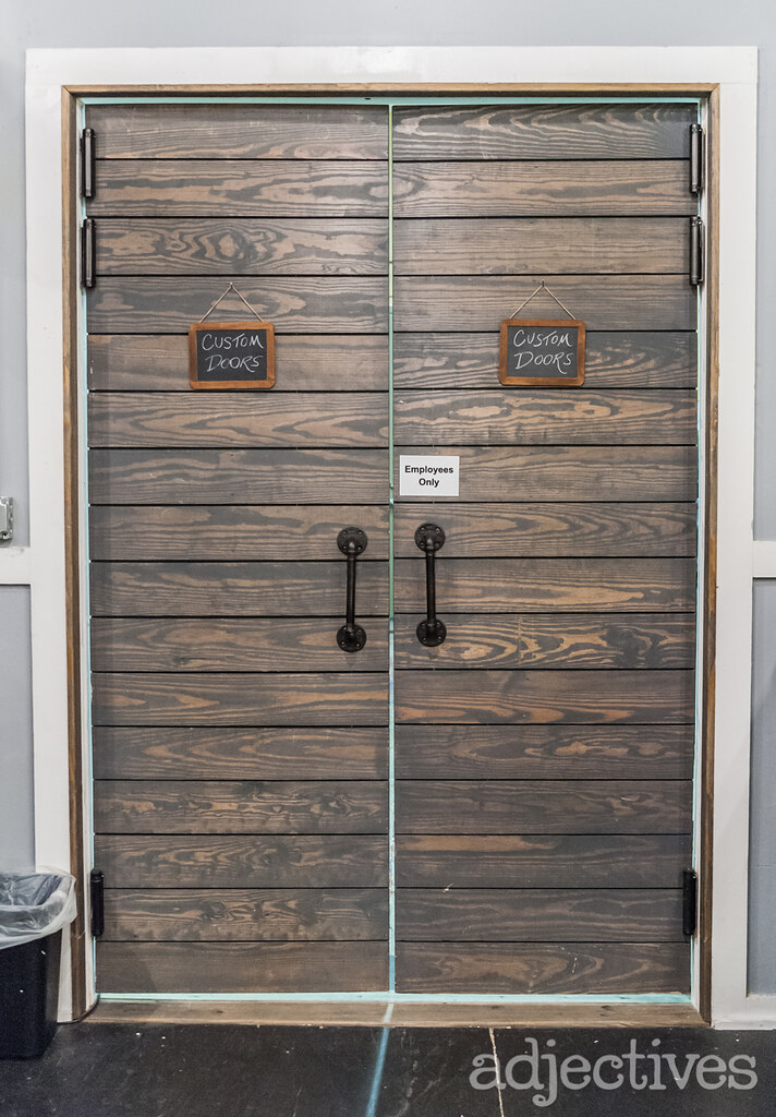 Custom Barn Doors by Ressurected Owl at Adjectives Winter Garden