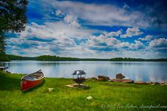 By the lake in Ontario. White Lake, Lanark Highlands, Ontario, Canada