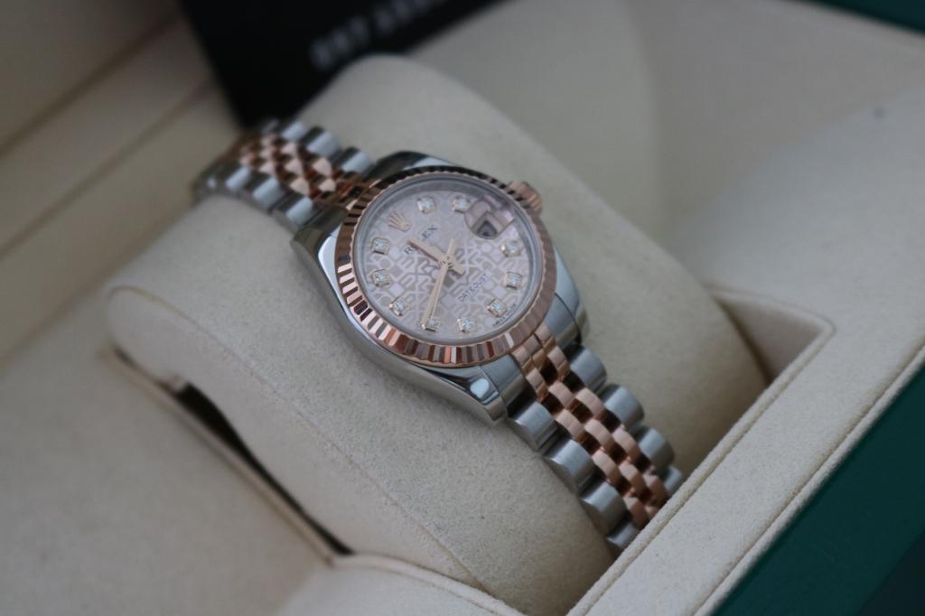 Đồng hồ rolex datejust 6 số Nữ 179171 – Đè mi hồng – mặt vi tính xoàn – Size 26mm