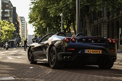 Black Ferrari F430 Spider rollin through the streets of Rotterdam 👌📍
