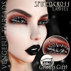 Vengeful Threads - Free Group Gift - Spiked Cross Lashes_Ad