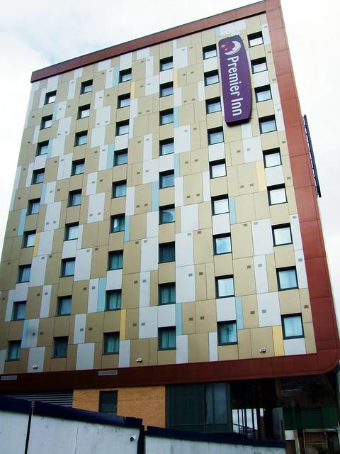 Cladding On The Premier Inn, Great West Road, Brentford - London.