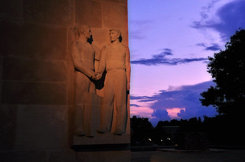 War Memorial at Sunset