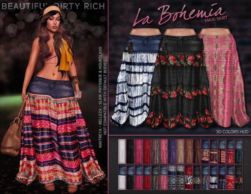 *B.D.R.* La Bohemia Maxi Skirt - SecondLifeHub.com