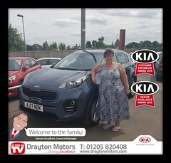 Congratulations to Mrs Payne on collecting her first Kia from Amanda, Welcome to the family!