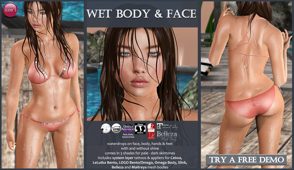 Wet Body & Face (for Summerfest) - SecondLifeHub.com