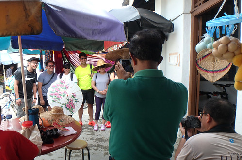 Volunteers working at the Kampung Photo Booth at Uncle Lim's shop for Pesta Ubin 2017