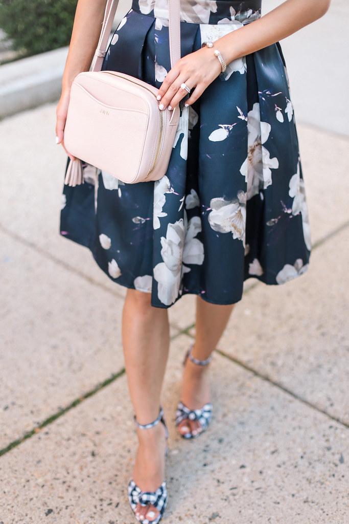 floral skirt ginham shoes FS-4