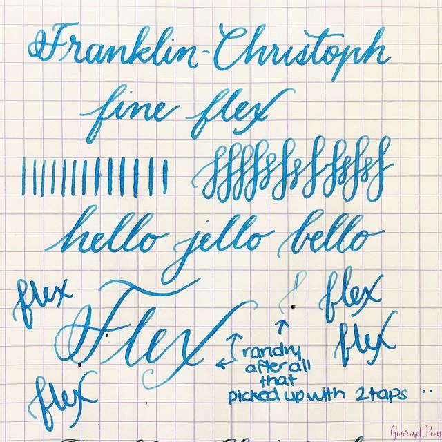 Review Franklin-Christoph Fine Flex & Fine SIG Flex Nibs @1901FC 17