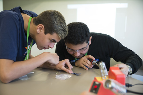 ENGN Students Learn How to Solder, Make Trebuchets