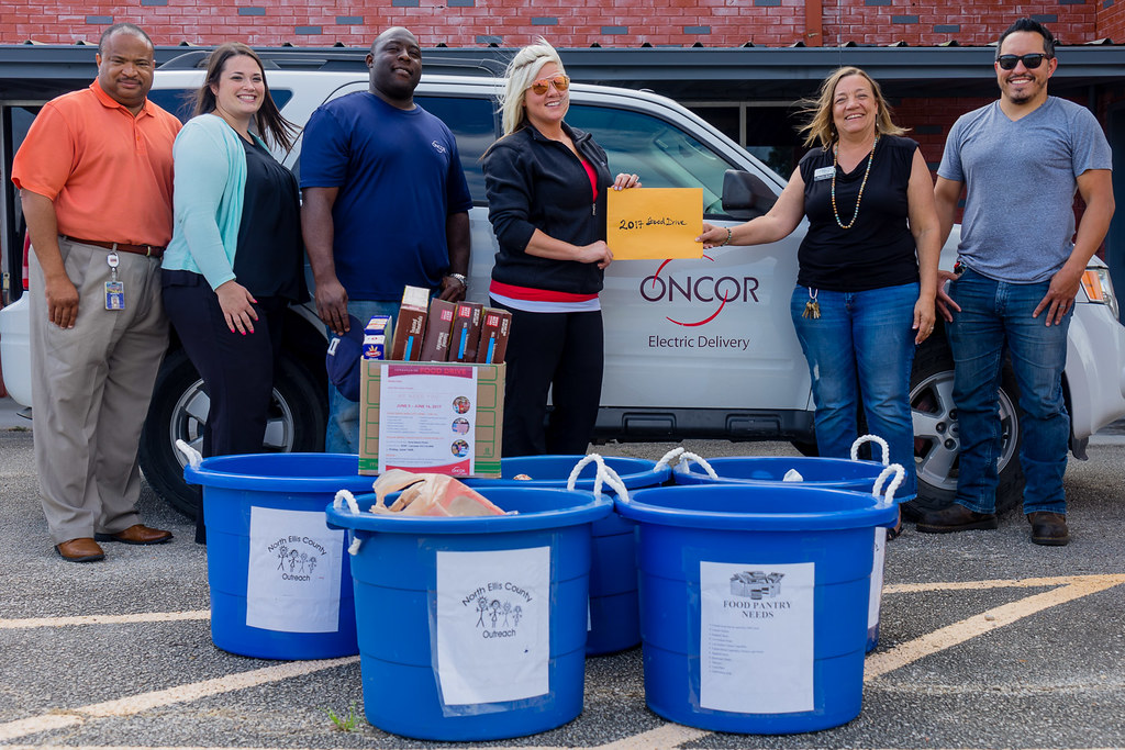 Oncor-Food Drive-North Ellis County-6