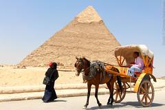 The Giza pyramid complex. Cairo, Egypt.