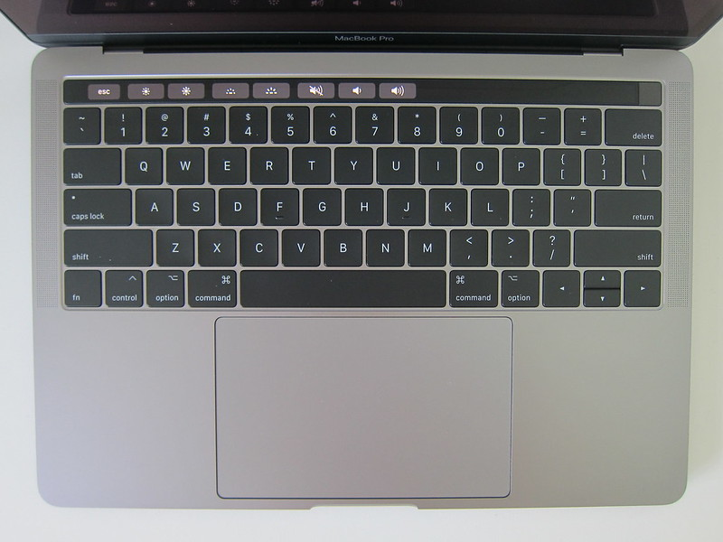 Apple MacBook Pro 13 Inch with Touch Bar and Touch ID (Mid 2017) - Keyboard and Trackpack