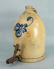 Jug with wooden spigot