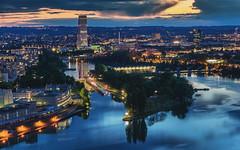 Basel Blue Hour after Sunset