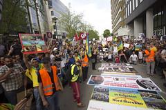 Manifestation en soutien à la mouvance rifaine. Bruxelles