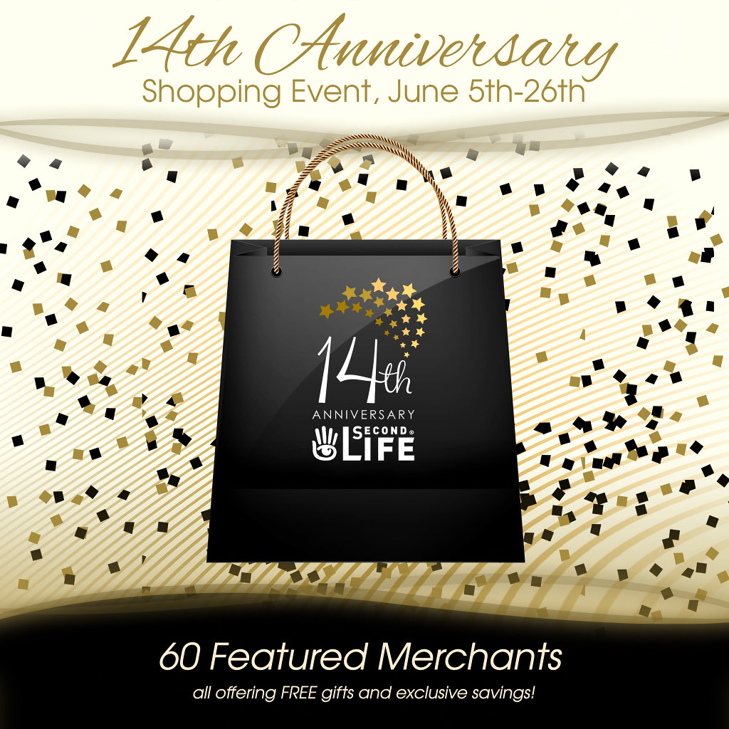 14th Anniversary, Shopping Event, June 5th-26th - SecondLifeHub.com