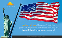 Vee Technologies Wishing Happy US Independence Day - 2017