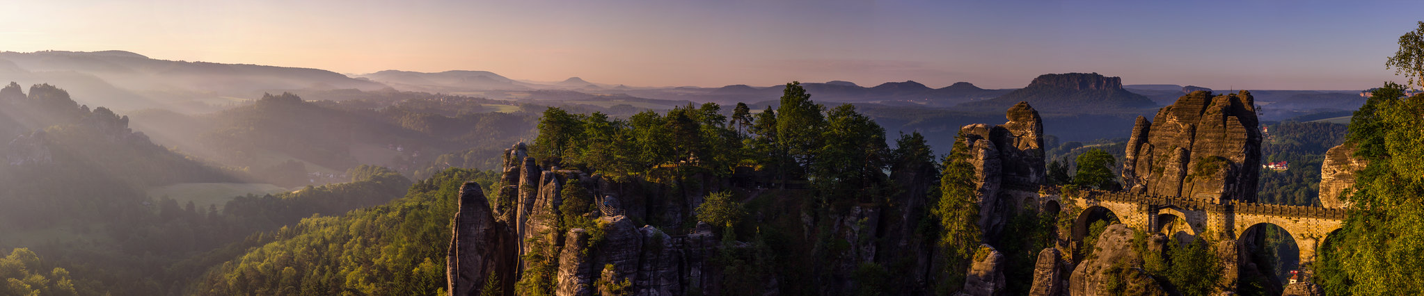 Bastei shortly after sunrise