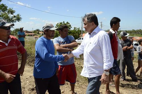 Inauguração cercamento estrada em Palhano