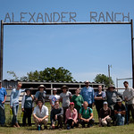 Group photo at Alexander Ranch.