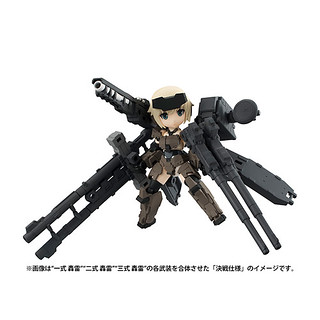 Desktop Army x《Frame Arms Girl 骨裝機娘》第一彈合作商品「KT-321f 轟雷系列」發表!