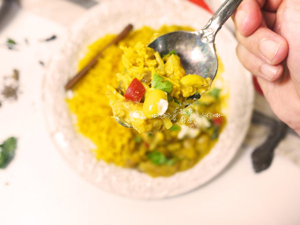 孤身廚房-Staub媽咪鍋煮超滿的印度蔬食花椰菜咖哩57