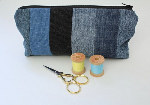 Striped Zipper Pouch on Etsy