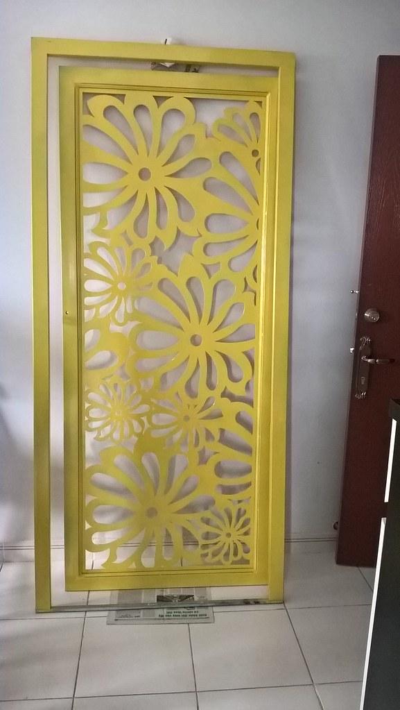 Mẫu cửa sắt chung cư CNC CK1253 tại HQC3 Plaza - Bình Chánh