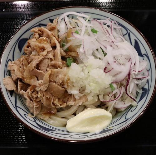 もちろん、「大」を頼みました。 #丸亀製麺試食部 #丸亀製麺 #こく旨豚しゃぶ #三匹のこく旨豚