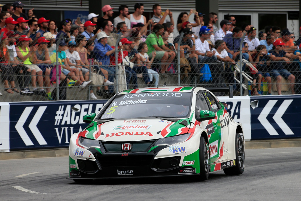 05 MICHELISZ Norbert (hun) Honda Civic team Castrol Honda WTC action during the 2017 FIA WTCC World Touring Car Championship race of Portugal, Vila Real from june 23 to 25 - Photo Paulo Maria / DPPI