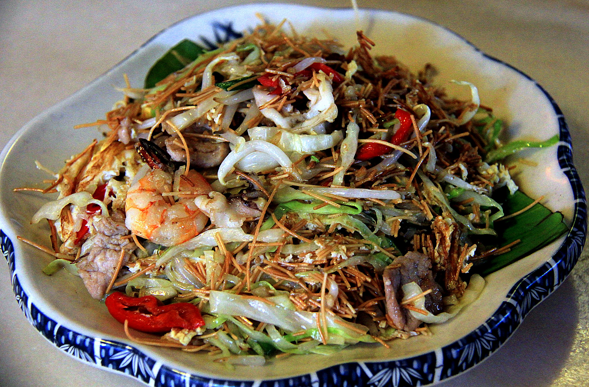 Malaysian Chinese or Nyonya dish of noodles