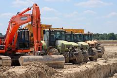 Visite d'un chantier de fouilles d'Alizay