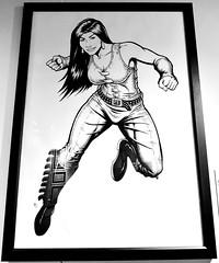 An aboriginal woman depicted as a comic book superheroine