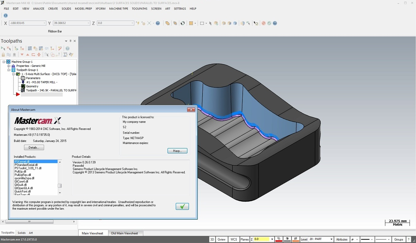 Toolpath with Mastercam X8 17.0.19735.0 with Add-ons x64 full license