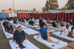 Goma, province du Nord-Kivu, RD Congo: la Journ�e internationale du yoga vise � sensibiliser les gens � l'ensemble des nombreux avantages de la pratique du yoga.