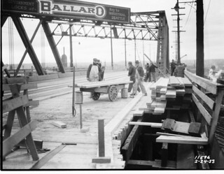 Ballard Bridge repair, 1933