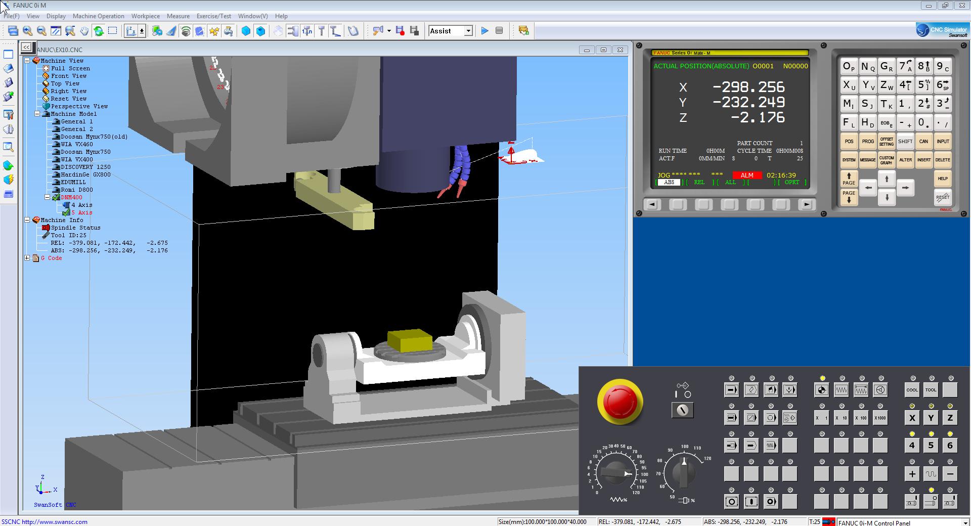 5 axis Nanjing Swansoft CNC Simulator 7.1.2