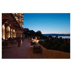 Evian, France Leica Q . #leicaQ #leica #leicacamera #leicaqtyp116 #leicacraft #leica_photos #leica_uk #leica_world #leicaphotography #twitter #france #evian #hotel #sunset #festival #behindthescenes @rencontresmusicalesevian @mahlerchamberorchestra