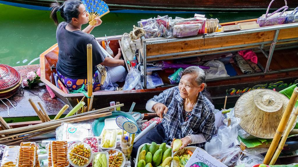 Thailand - Damnoen Saduak - Schwimmender Markt