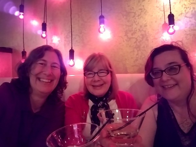 Traditional end of conference responsibilities celebration with @kdeiss and @thearystocrat #alaac17