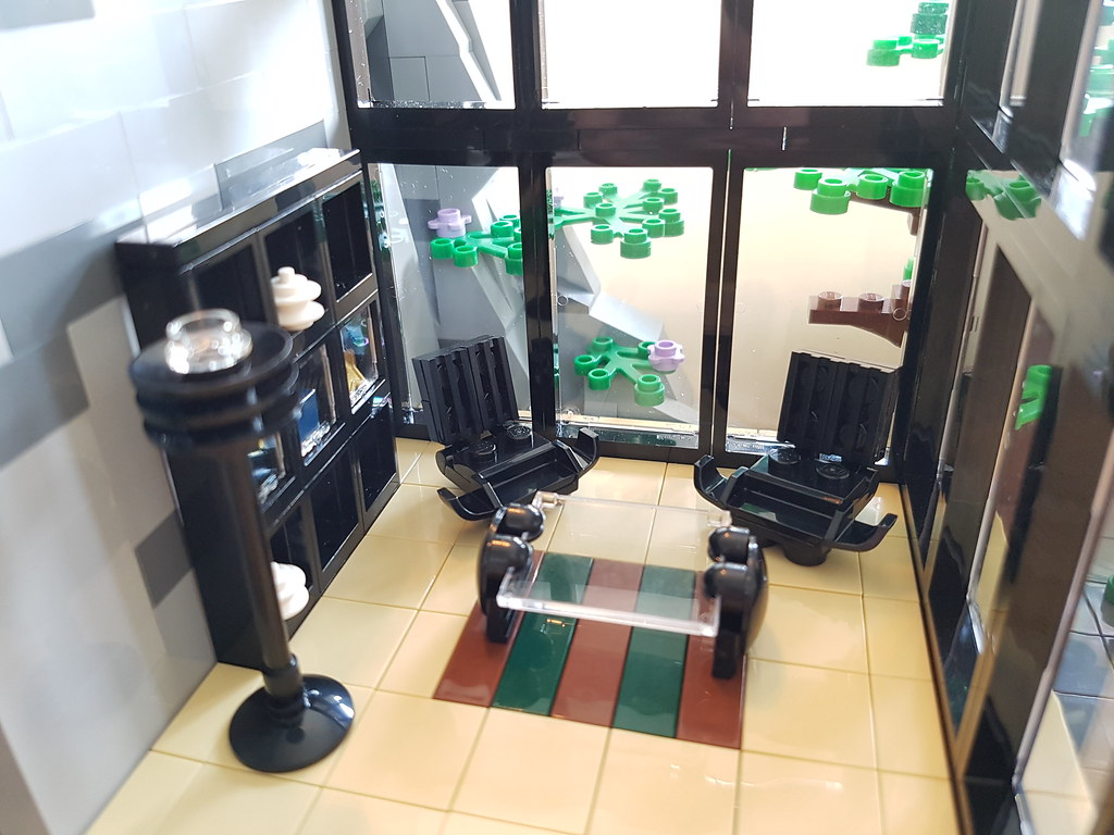 Green Rock House MOC living room interior III