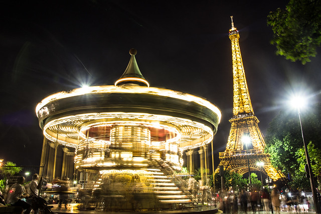 An evening by the Eiffel Tower